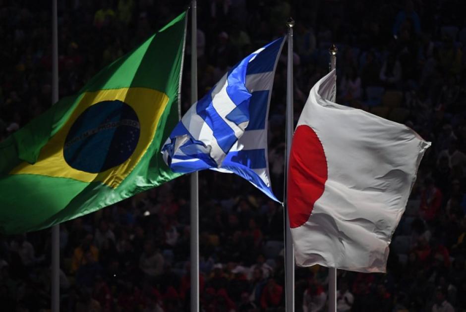 Brasil, sede actual, Grecia, origen de los Juegos y Japón, sede de 2020. (Foto: AFP)