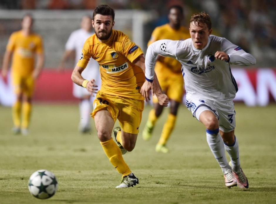 El APOEL Nicosia quedó fuera en los últimos minutos (Foto: AFP)