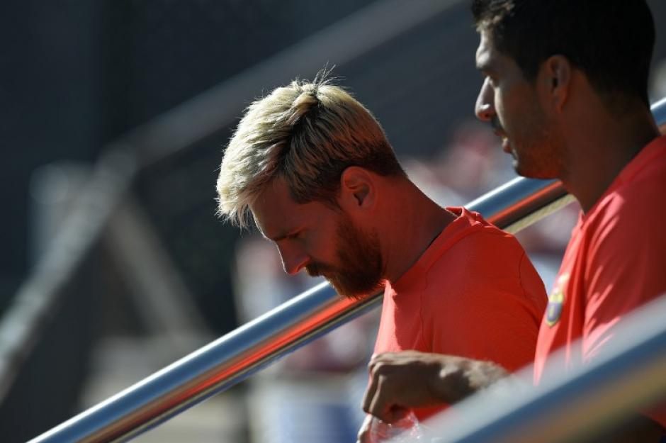 El club no quería que Leo viajara a Argentina, pero él se fue de todas formas. (Foto: AFP)