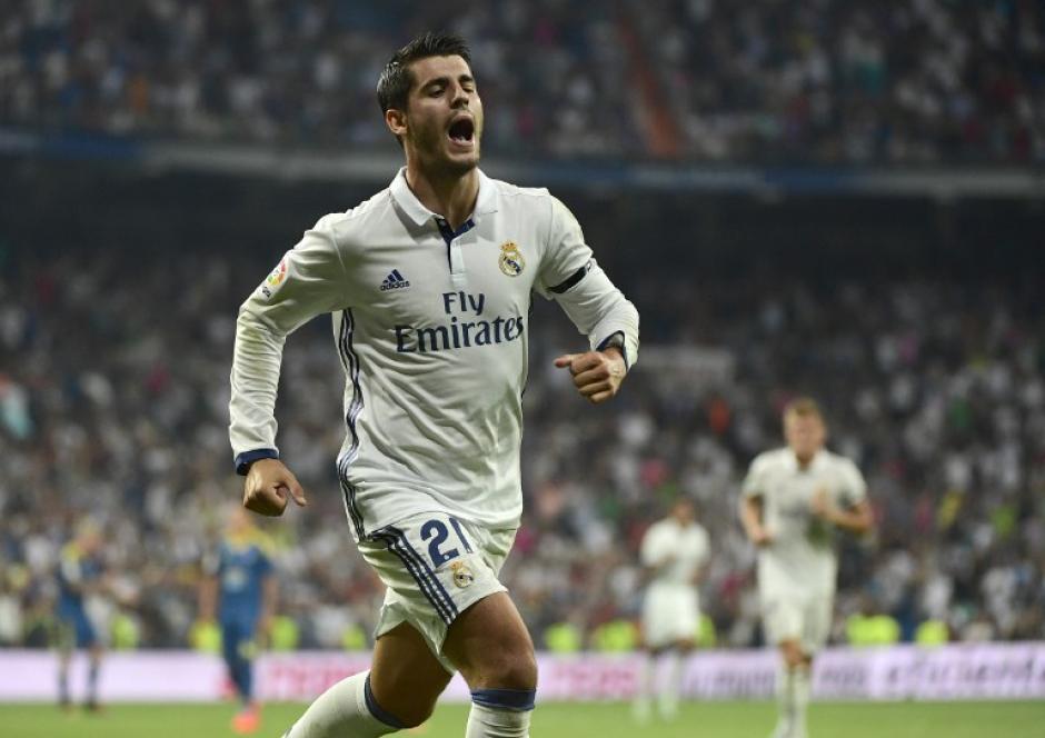 Morata marcó su primer gol esta temporada. (Foto: AFP)