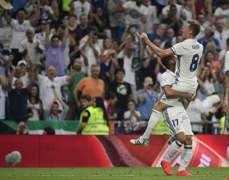 Toni Kroos puso el 2-1 que valió los tres puntos. (Foto: AFP)