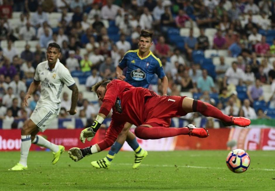 El Celta jugó bien y tuvo a un gran Sergio en la portería. (Foto: AFP)