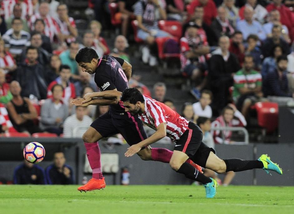 Luis Suárez no tuvo un buen día ante el Athletic. (Foto: AFP)