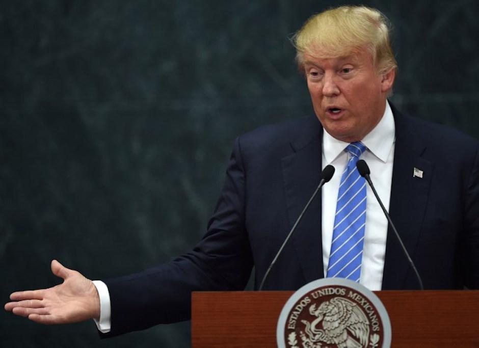 Trump insistió en la construcción del muro. (Foto: AFP)