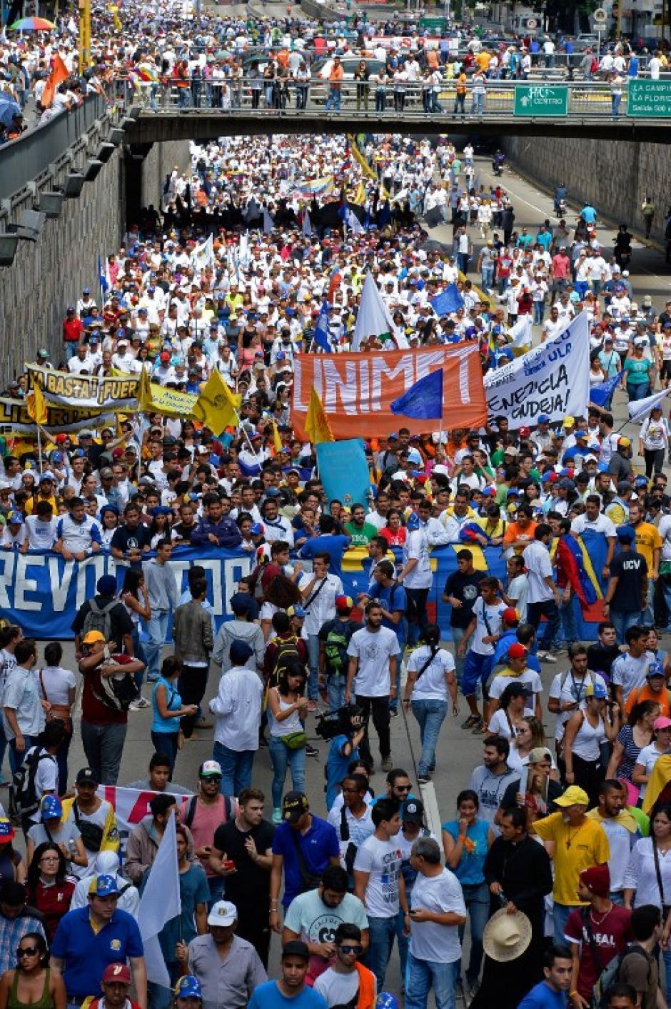 Las calles fueron tomadas por la oposición. (Foto: AFP)