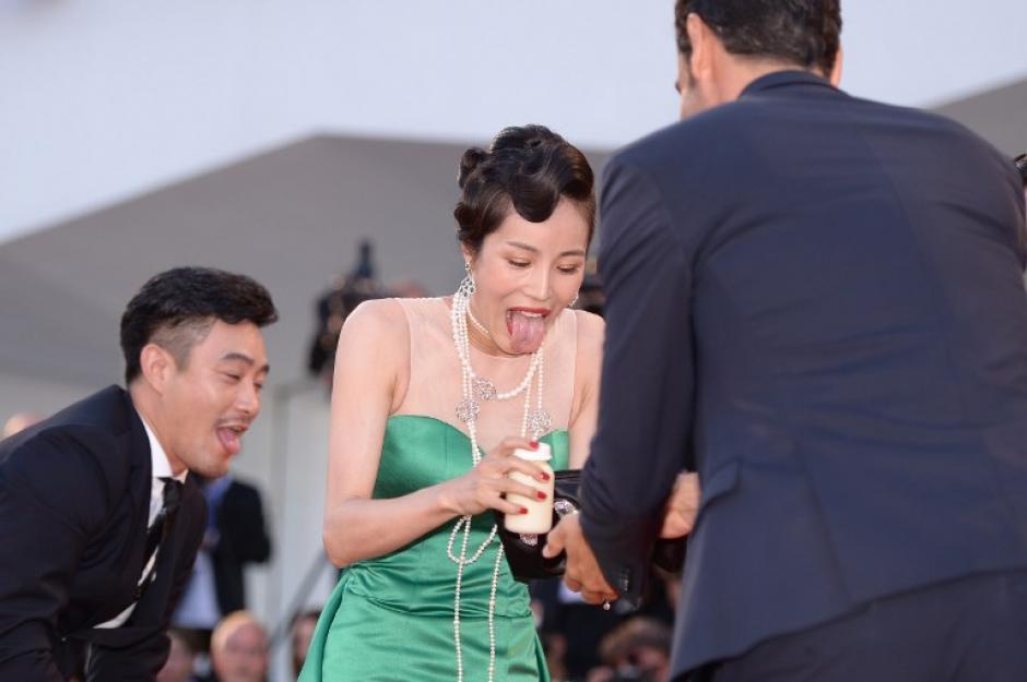 Al parecer, la situación le provocó un problema en la lengua a la actriz. (Foto: AFP)
