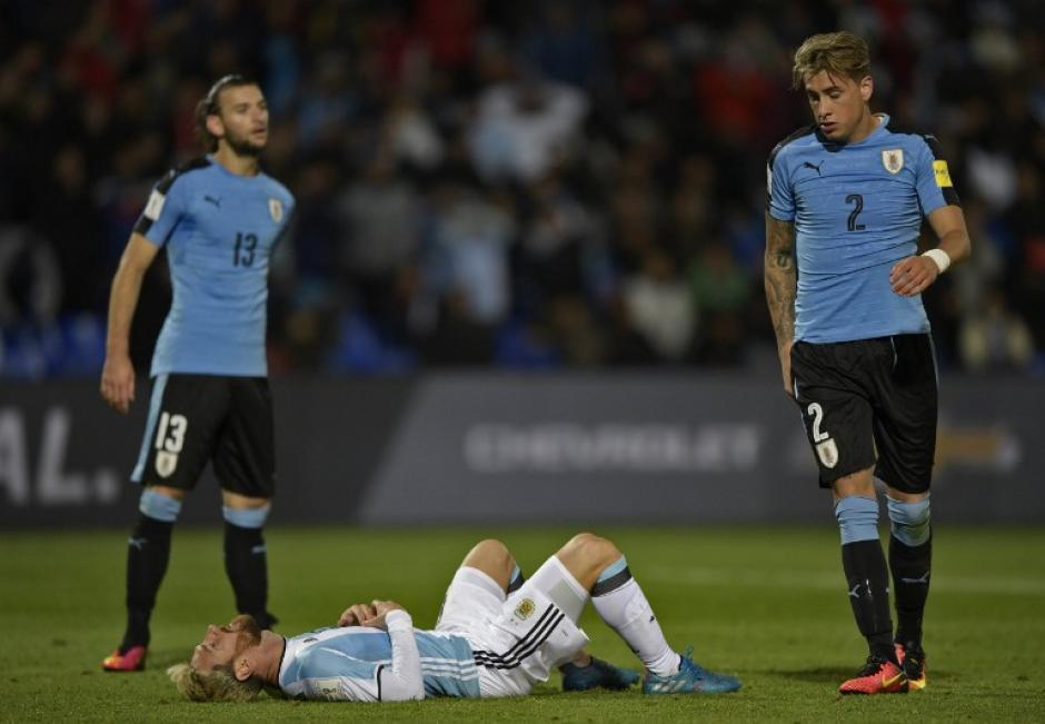 El capitán jugó contra Uruguay con dolor en el pubis (Foto: AFP)