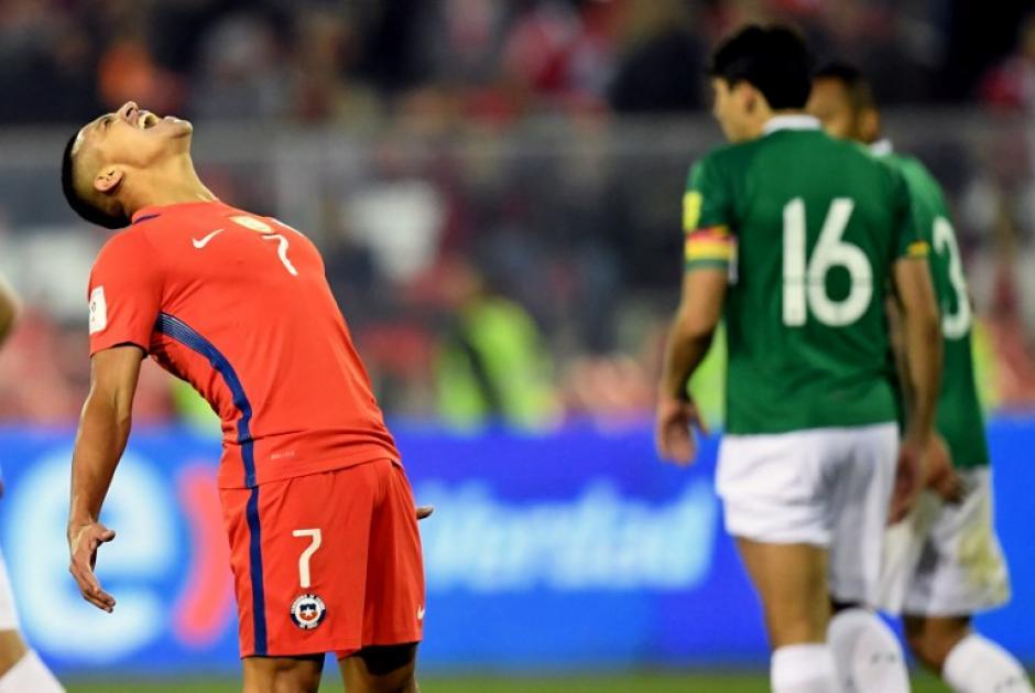Chile se complicó la vida tras empatar contra Bolivia. (Foto: AFP)