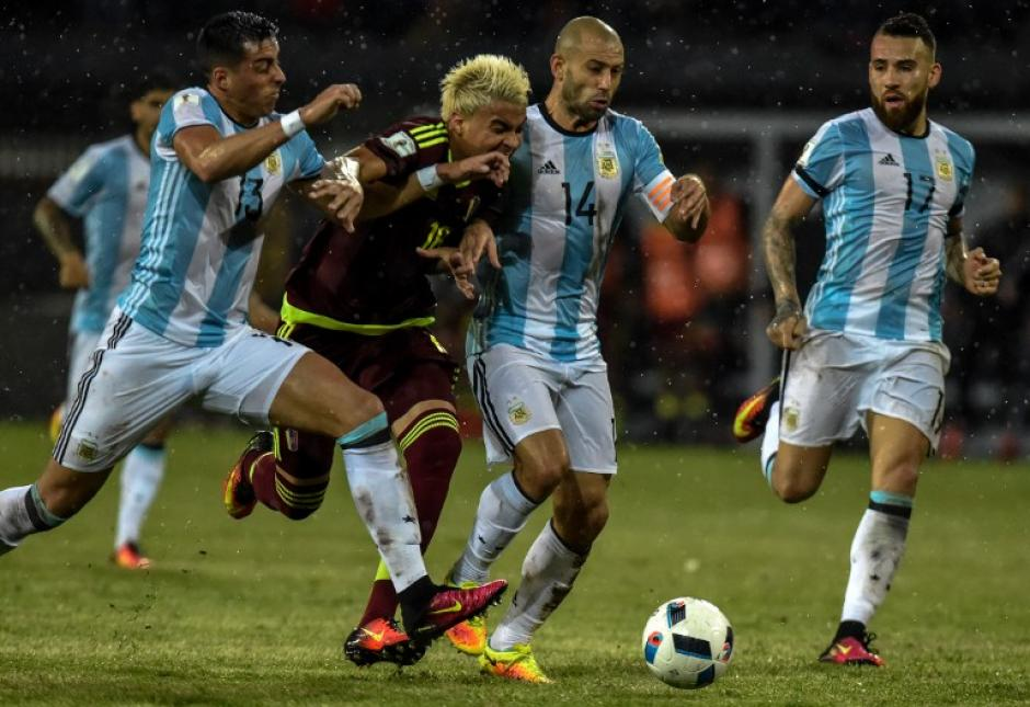 Venezuela sacó un empate ante Argentina, que jugó sin Messi. (Foto: AFP)