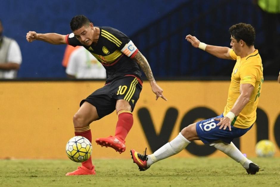 Colombia no fue un rival fácil para Brasil. (Foto: AFP)