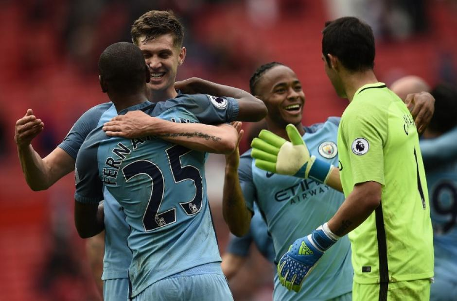 El Manchester City de Guardiola salió victorioso de Old Trafford. (Foto: AFP)