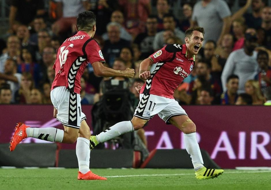 Ibai Gómez celebra el gol de la victoria. (Foto: AFP)
