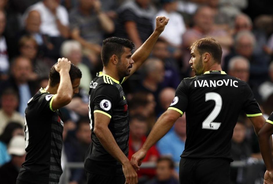 Diego Costa celebra su gol ante el Swansea. (Foto: AFP)