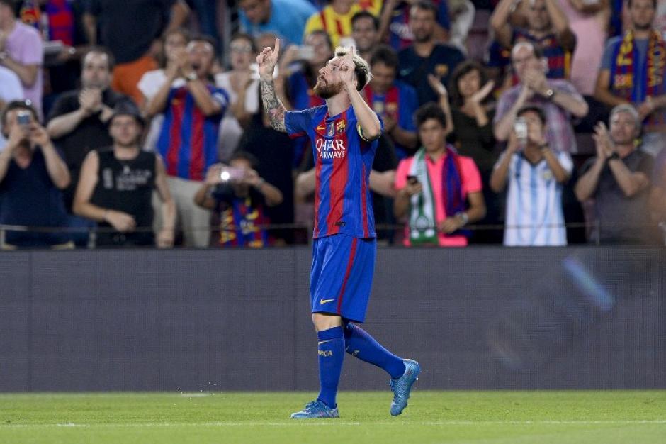 Leo Messi metió tres goles en el partido. (Foto: AFP)