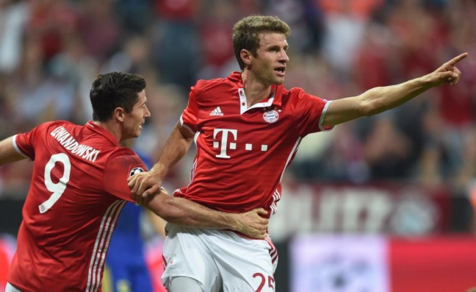 Thomas Müller también se hizo presente en el marcador. (Foto: AFP)
