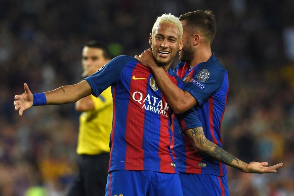 Neymar jugó un partidazo ayer en el Barcelona. (Foto: AFP)
