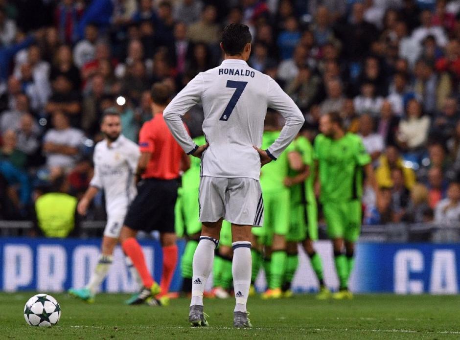 Cristiano lamenta el gol de Bruno César (Foto: AFP)