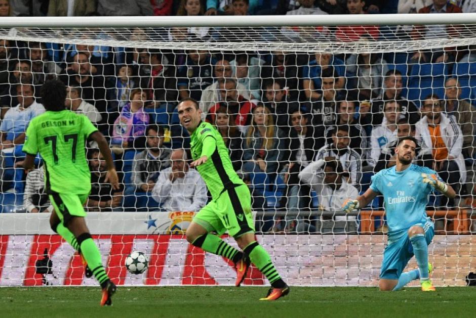 Los portugueses metieron miedo en el Bernabéu (Foto: AFP)
