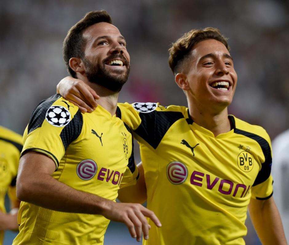 El Dortmund goleó sin piedad en Varsovia. (Foto: AFP)