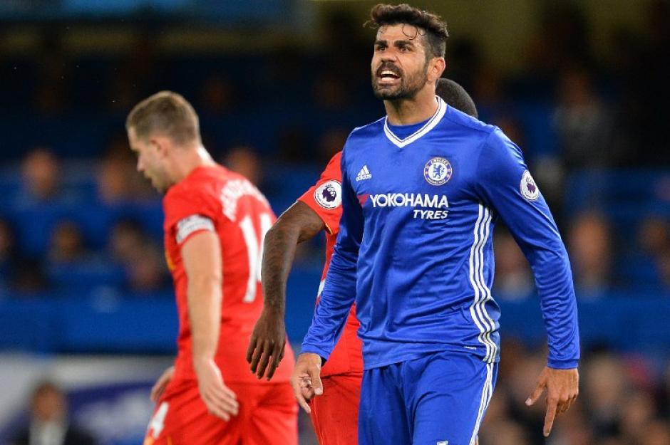 Diego Costa sigue de racha, pero no le sirvió a su equipo. (Foto: AFP)