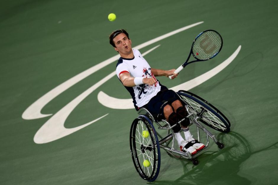 Gordon Reid se impuso en la rama masculina en tenis sobre silla de ruedas. (Foto: AFP)
