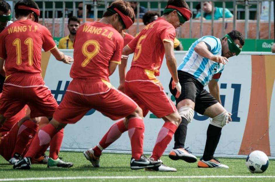 Argentina se quedó con el bronce en fútbol (categoría de no videntes). (Foto: AFP)