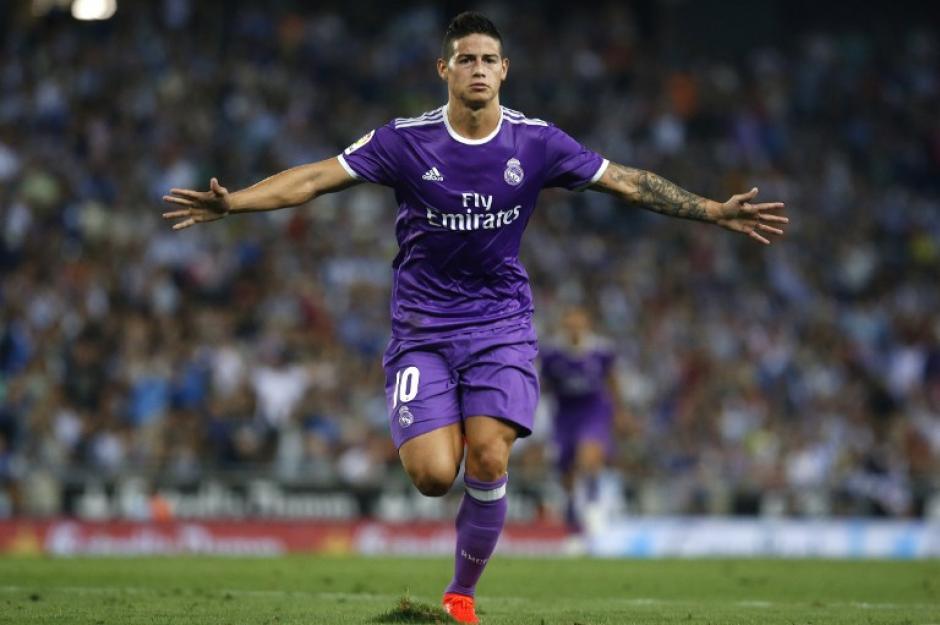 James Rodríguez parece levantar su nivel en el plantel de Real Madrid. (Foto: AFP)