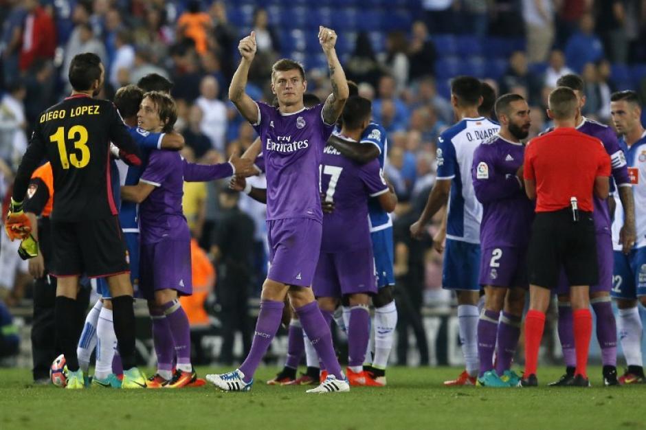 Toni Kroos celebra al final del partido. (Foto: AFP)