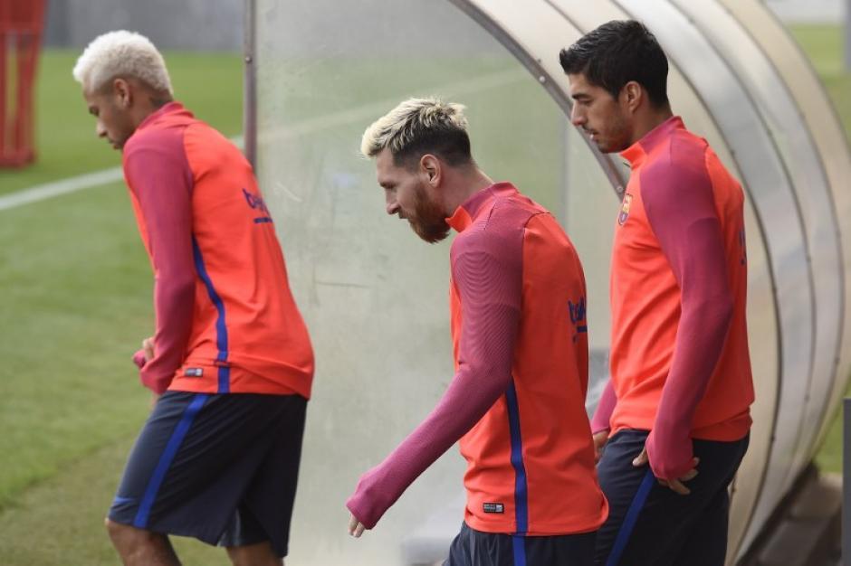 Los tres siempre están juntos en los entrenamientos. (Foto: AFP)