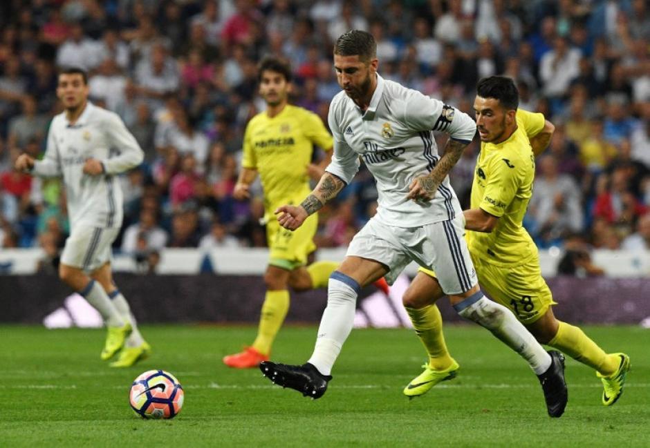 Sergio Ramos fue héroe y villano contra el Villarreal. (Foto: AFP)