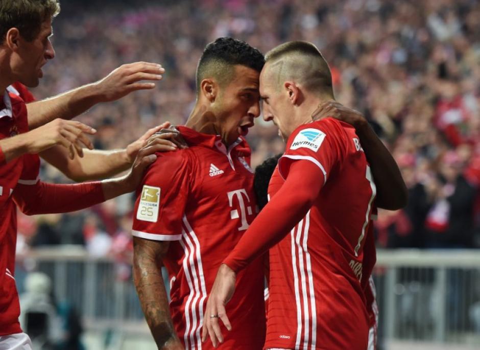 Ribery, a sus 33 años, está en su mejor forma. (Foto: AFP)