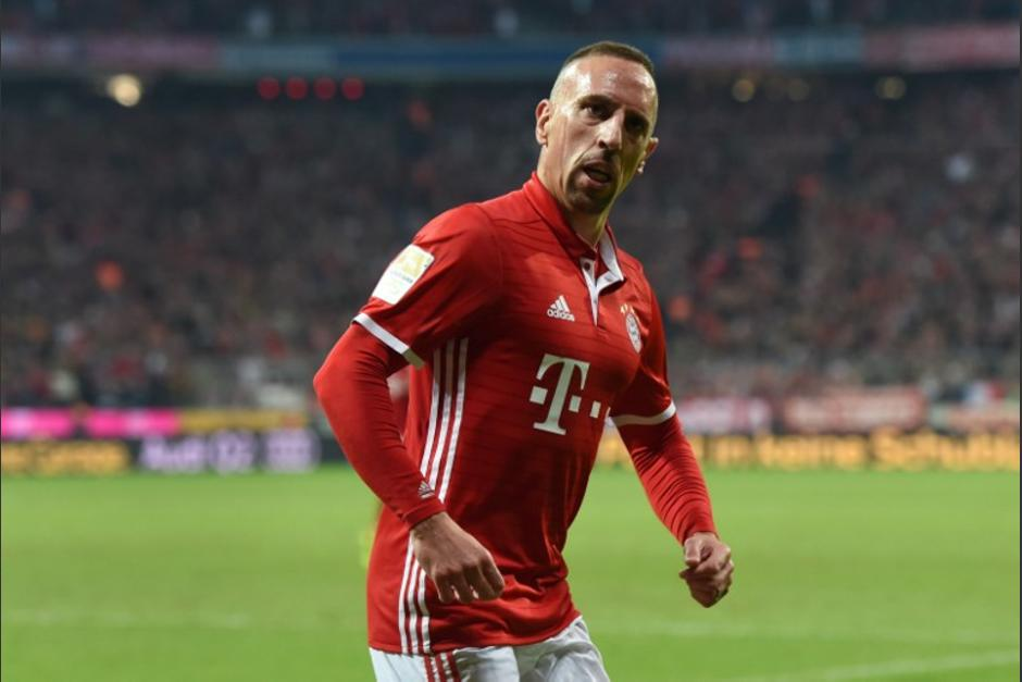 Ribery celebra su gol ante el Hertha Berlín. (Foto: AFP)