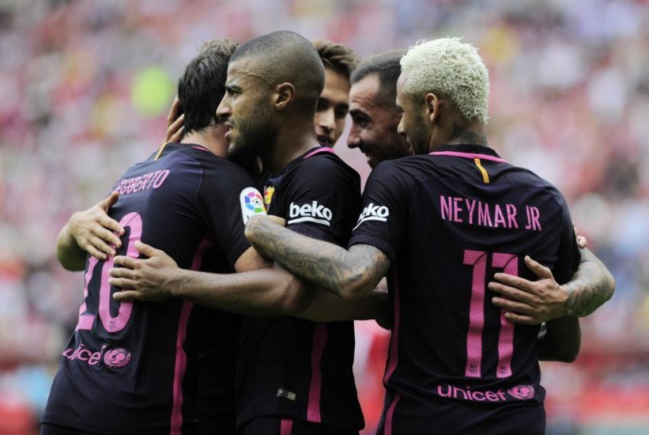 El Barcelona no sufrió sin Leo. (Foto: AFP)