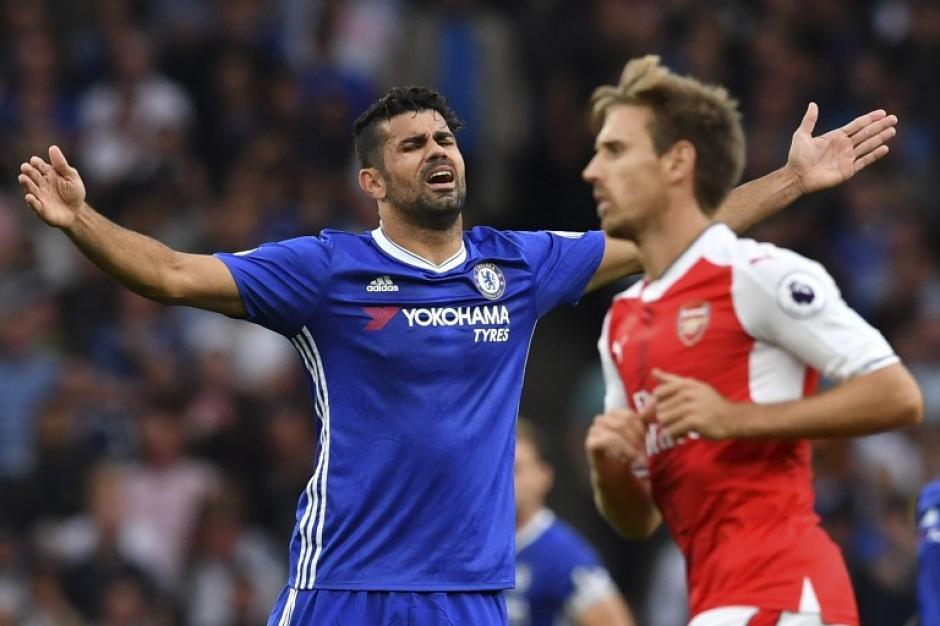 Diego Costa no tuvo un buen día (Foto: AFP)
