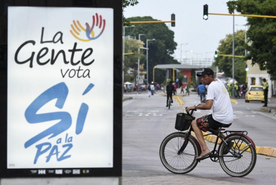 Publicidad para promover el voto del si en el plebiscito. (Foto: AFP)
