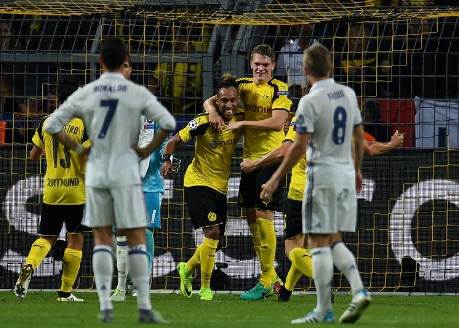 El empate del Dortmund llegó por un error de Navas y Varane. (Foto: AFP)