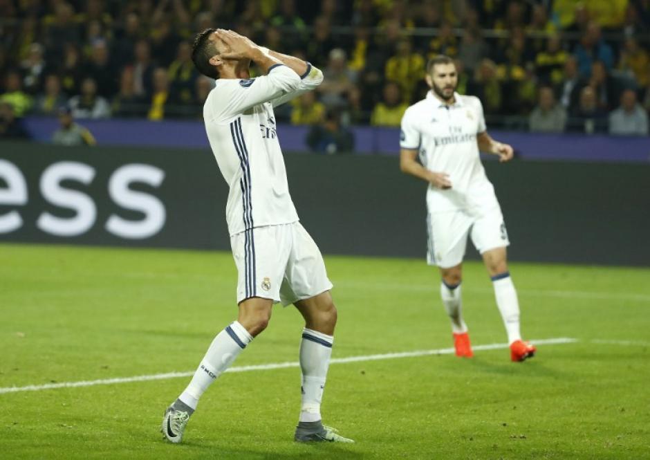 Cristiano Ronaldo marcó un gol, pero el Madrid empató. (Foto: AFP)
