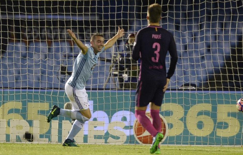Iago Aspas marcó un golazo, como bien dijo en el video. (Foto: AFP)
