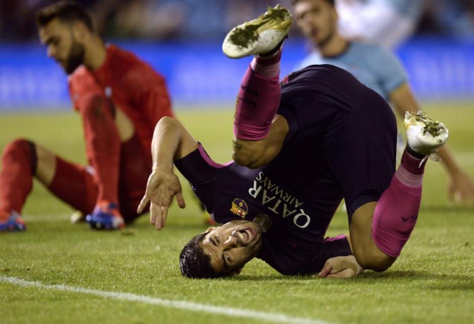 El delantero uruguayo jugó un mal partido. (Foto: AFP)