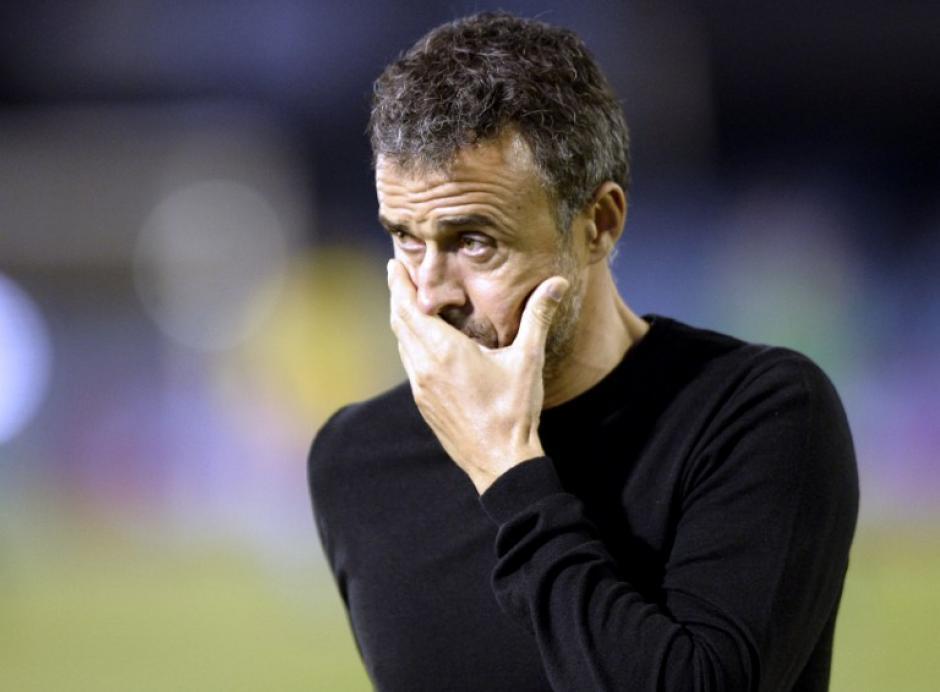 Luis Enrique sigue con experimentos y le volvió a salir mal. (Foto: AFP)