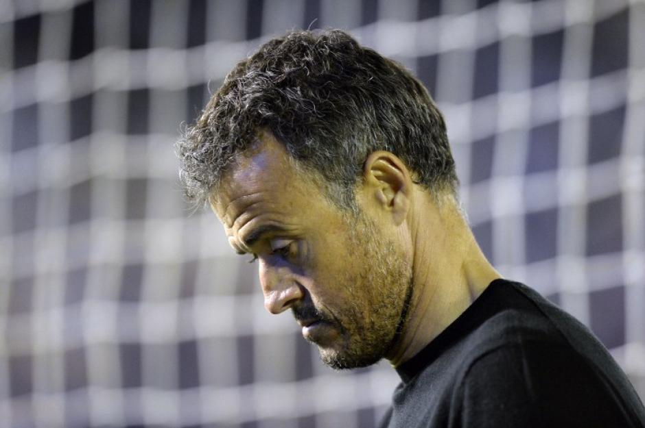 Luis Enrique se llevó muchas críticas tras caer en Vigo. (Foto: AFP)