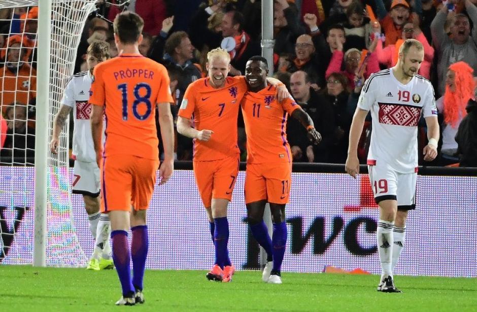 Holanda venció a Bielorrusia. (Foto: AFP)