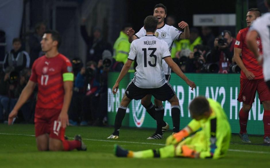 Alemania derrotó contundentemente a la República Checa. (Foto: AFP)