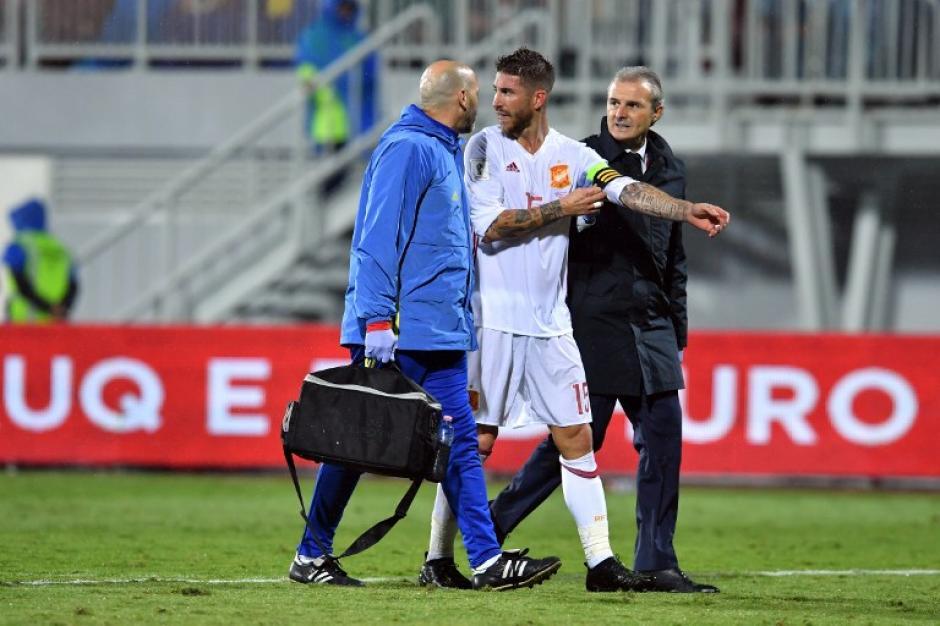 El capitán de España y del Real Madrid se lesionó el domingo. (Foto: AFP)