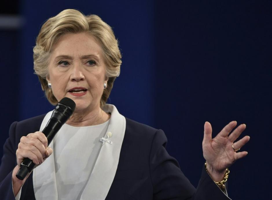 La candidata Hillary Clinton habló 39 minutos y 5 segundos. (Foto: AFP)