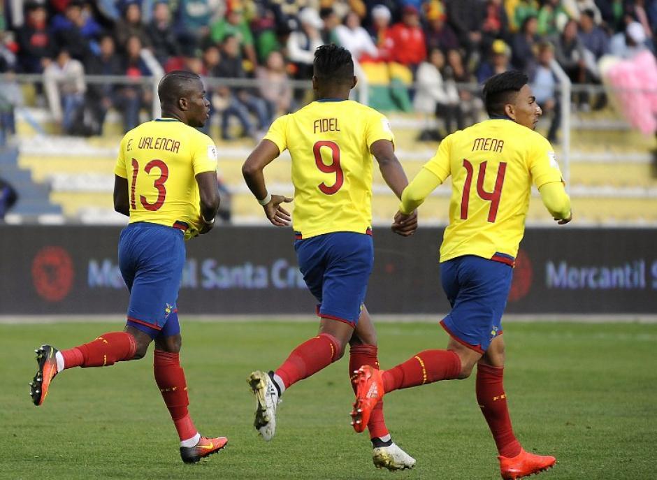 Enner Valencia celebra su gol de último minuto. (Foto: AFP)