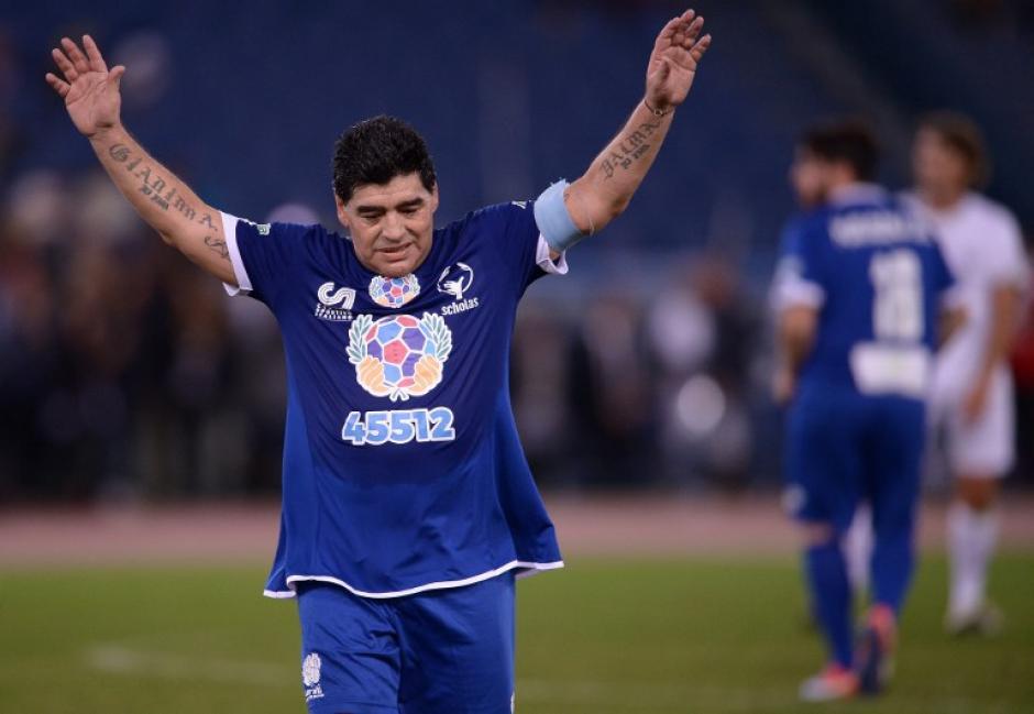 Diego Maradona siempre atrae todos los focos. (Foto: AFP)