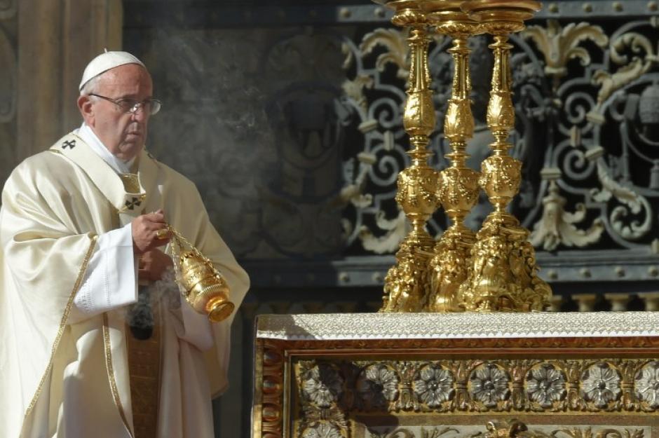 El papa Francisco se refirió al buen corazón de los dos nuevos Santos Latinoamericanos. (Foto: Andreas Solaro /AFP)