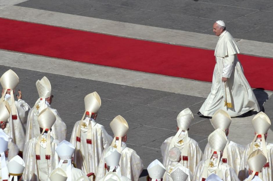 """El Papa Francisco canonizó al """"cura Gaucho"""" este domingo. (Foto: Nicolas Aguilera/AFP)"""