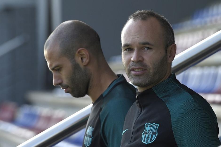 Mascherano e Iniesta podrían ser titulares también. (Foto: AFP)